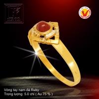 Vòng tay nạm đá Ruby