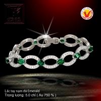 Lắc tay nạm đá Emerald