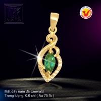 Mặt dây nạm đá Emerald