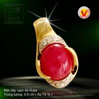 Mặt dây nạm đá Ruby