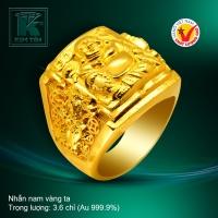 Nhẫn nam vàng 24K