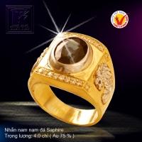 Nhẫn nam nạm đá Saphire