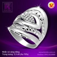 Nhẫn nữ vàng trắng 18K