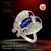 Nhẫn nữ nạm đá Saphire