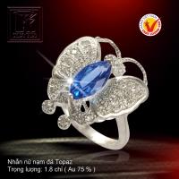 Nhẫn nữ nạm đá Topaz