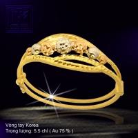 Vòng tay Korea vàng 18K
