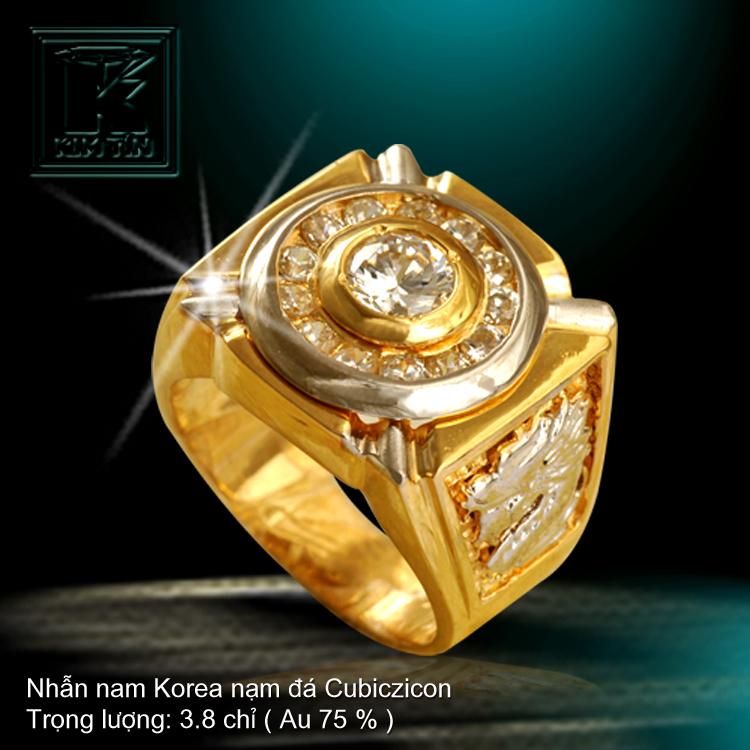 Nhẫn nam KOREA vàng 18K